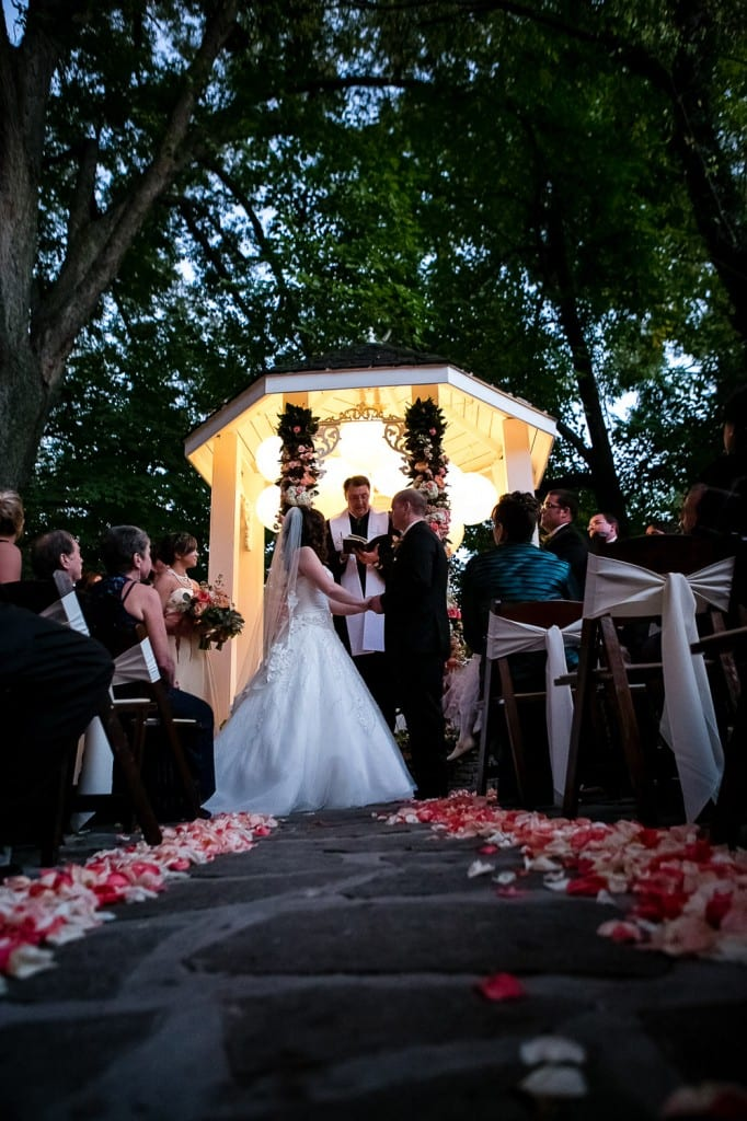 Nashville Garden Wedding Venue CJ's Off the Square Fall Evening Ceremony