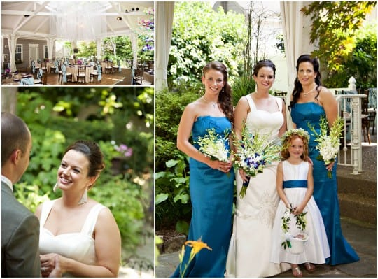Nashville Garden Wedding Venue CJ's Off the Square May Blue Bridesmaids Dresses