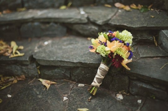 Nashville Garden Wedding Venue CJ's Off the Square Fall Bridal Bouquet