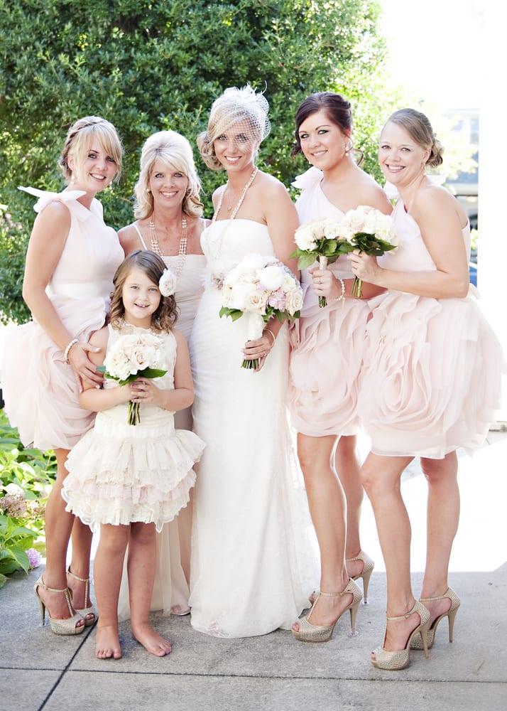 Nashville Garden Wedding Pink Petal Bridesmaids Dresses
