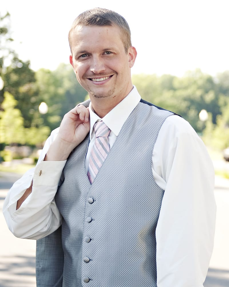 Nashville Garden Wedding Gray Groom Suit