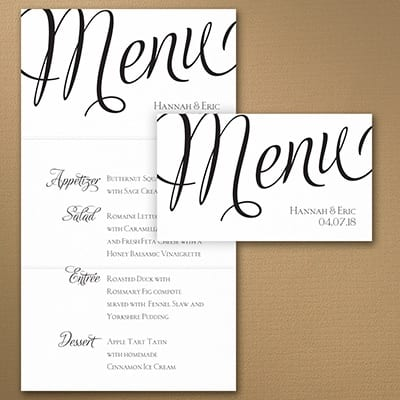 Distinctive Impressions Menu Card