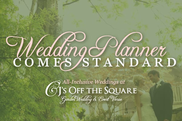 CJ's Off the Square, All Inclusive Wedding Venues, Wedding Planners