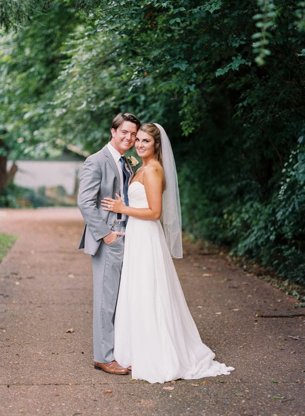 Katherine and Casey CJs Off The Square Peach Southern Wedding in Nashville, TN - outdoor garden wedding