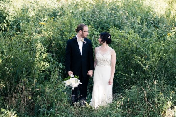 Organic luxe wedding with natural elements in Nashville, TN at outdoor garden wedding venue CJ's Off the Sqaure