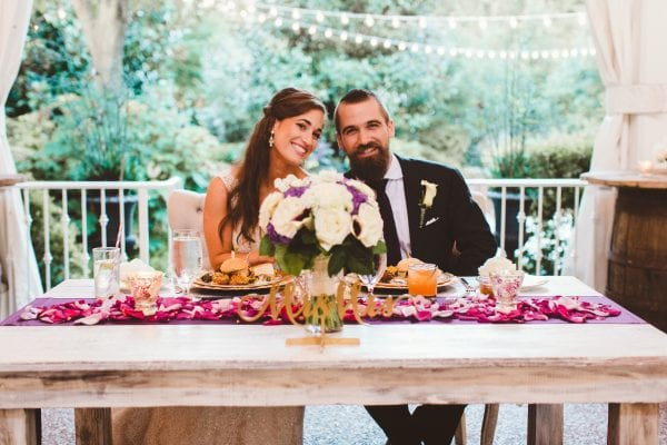 brittany and chris real nashville tn garden wedding at cjs off the square purple wedding reception (10)
