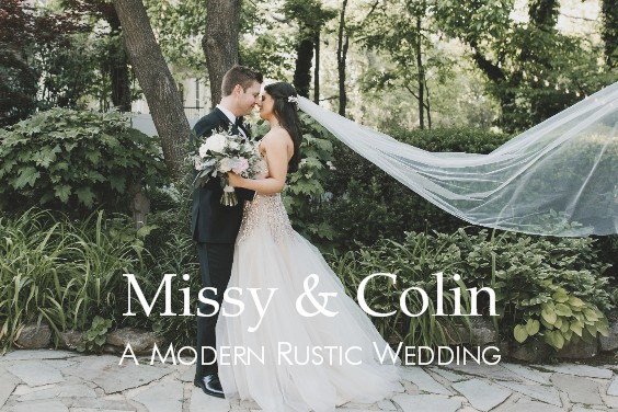 Missy & Colin's rustic modern wedding at CJ's Off the Square