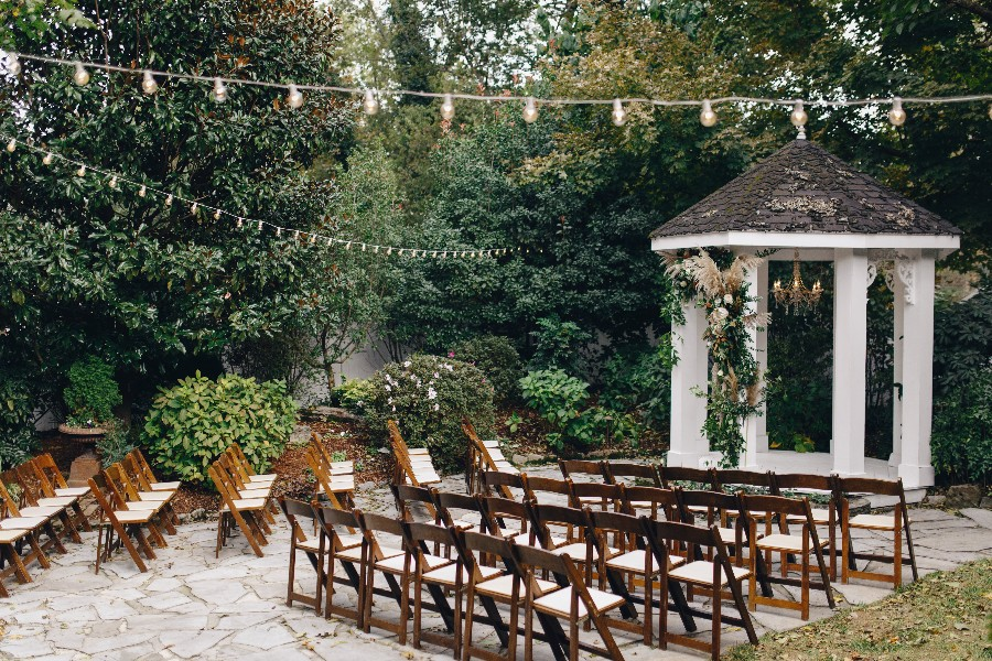 Fall garden wedding ceremony in Franklin, TN