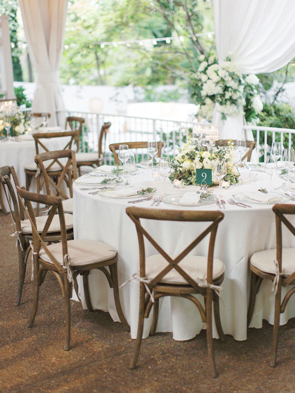 Mixed tables for garden wedding at Nashville Wedding Venue